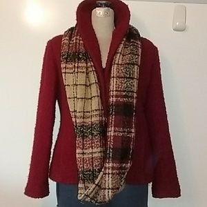 🔥🍁 Eileen Fisher Curly Wool Blend Jacket Size S